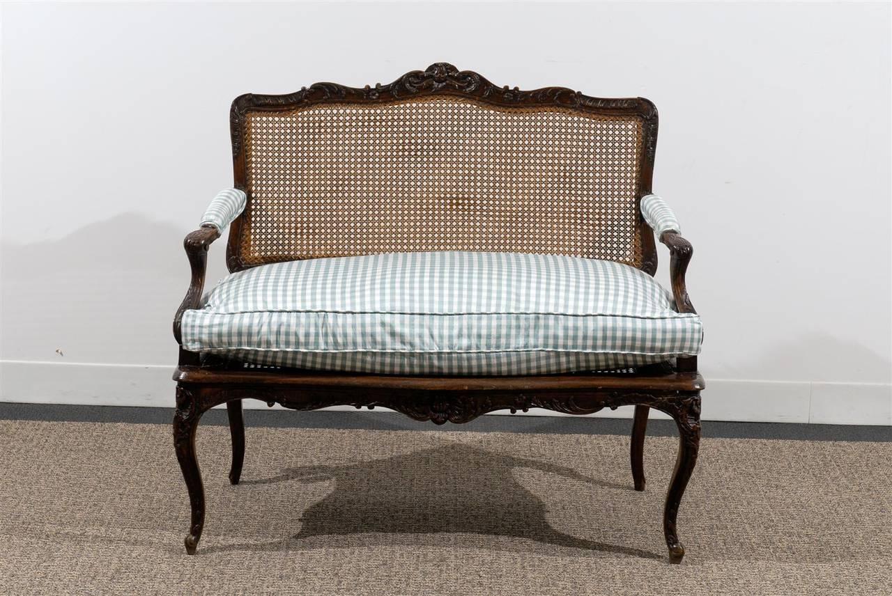 1880 XV Louis Stil Antika Kanepe