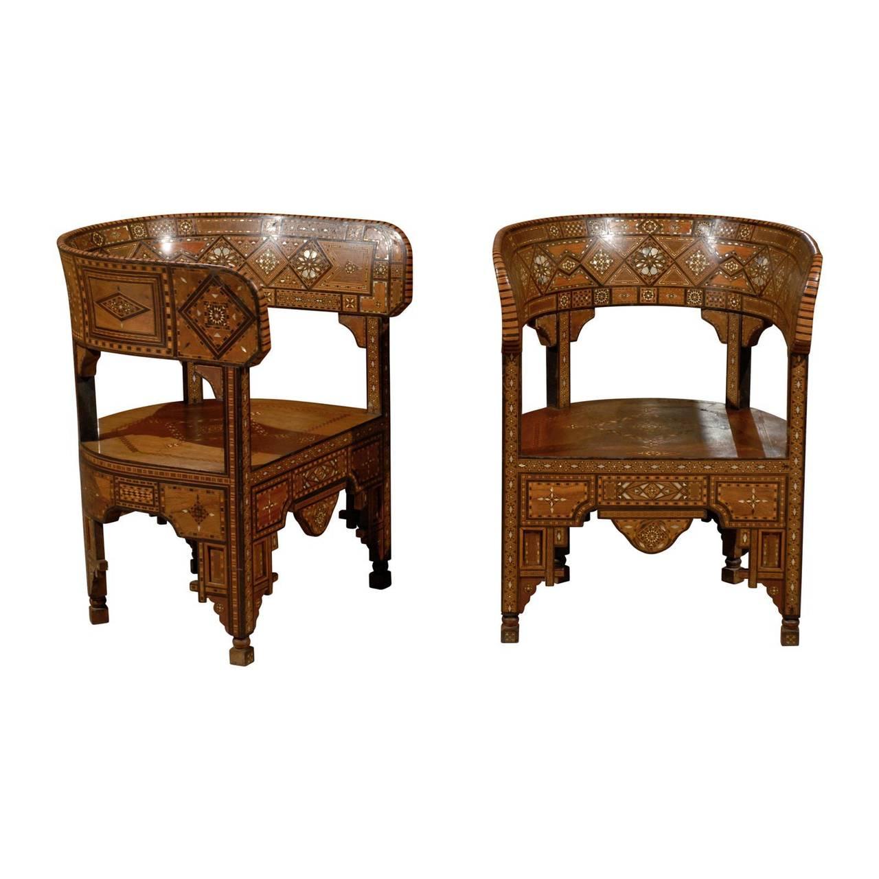 Antika Suriye Sandalyesi